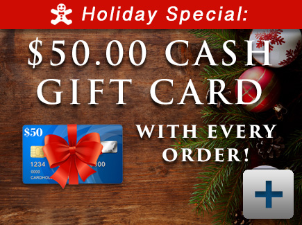 $50 Gift Card with Each Order