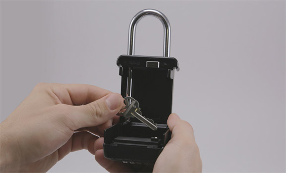Place key inside lockbox